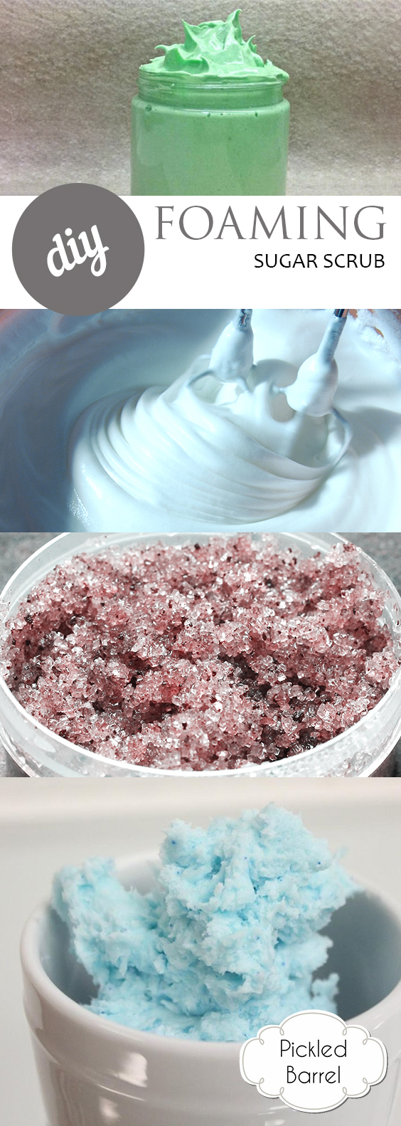 DIY Foaming Sugar Scrub| Sugar Scrub, DIY Sugar Scrub, DIY Beauty, Beauty Products, Popula Pin #DIYBeautyProducts #SugarScrubRecipes
