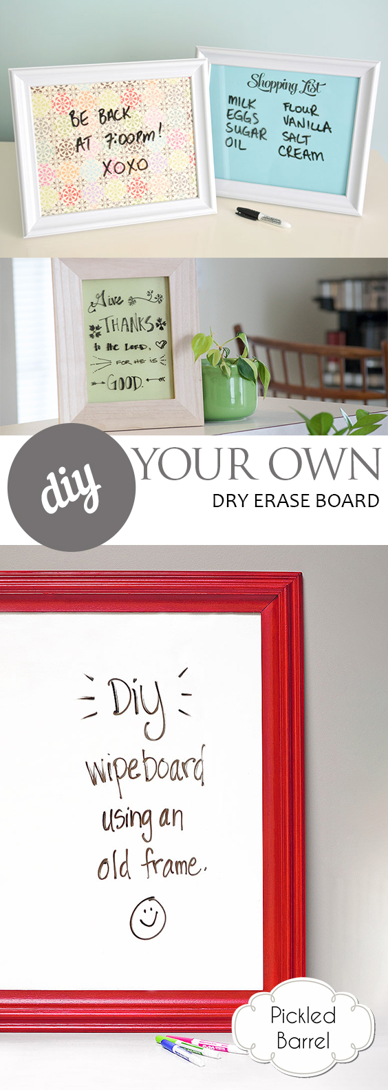 DIY Your Own Dry Erase Board| DIY, DIY Home, DIY Home Projects, Dry Erase Board, DIY Dry Erase Board, DIY Tutorials, Easy DIY Tutorials, Simple Tutorials for the Home, Popular Pin #DIYHome #DIYDryEraseBoard