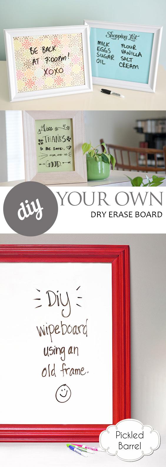 DIY Your Own Dry Erase Board| DIY, DIY Home, DIY Home Projects, Dry Erase Board, DIY Dry Erase Board, DIY Tutorials, Easy DIY Tutorials, Simple Tutorials for the Home, Popular Pin #DIYHome #DIYDryEraseBoard