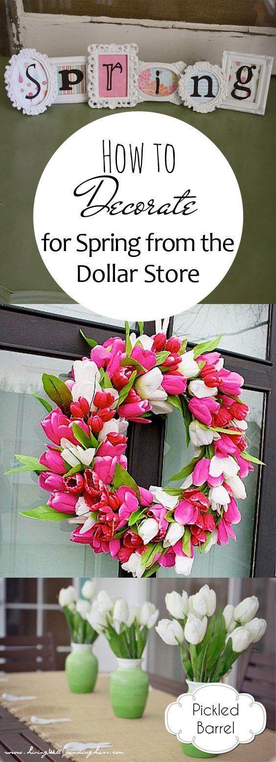 How to Decorate for Spring from the Dollar Store| Dollar Store Home, Dollar Store DIYs, DIY Dollar Store Decor, Dollar Store Decor Ideas, Spring Dollar Store Decor, Spring DIYs, DIY Spring Decor, Spring Home, Spring Into Spring #DIY #DollarStore #Spring
