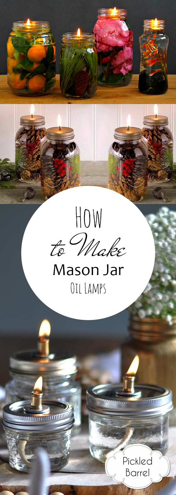 How To Make Mason Jar Oil Lamps| Mason Jar, Mason Jar Oil Lamps,