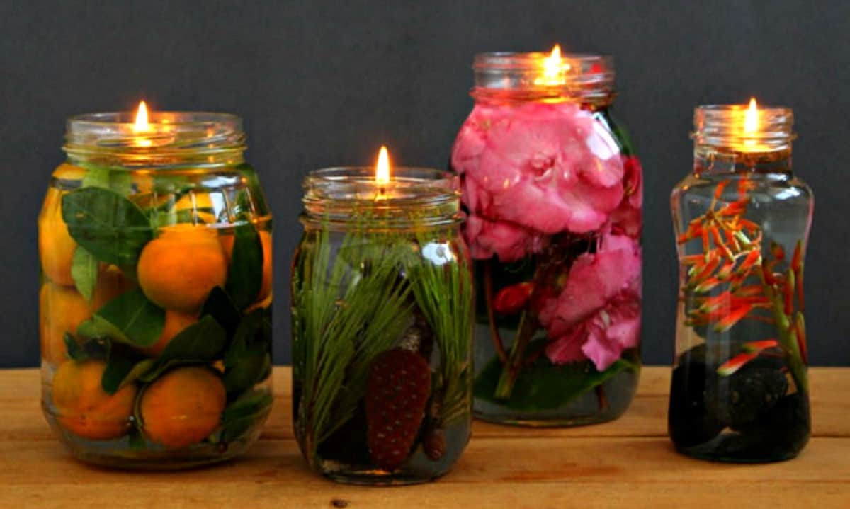 Mason jar oil lamps are the cutest DIY decor for your home. How To Make Mason Jar Oil Lamps