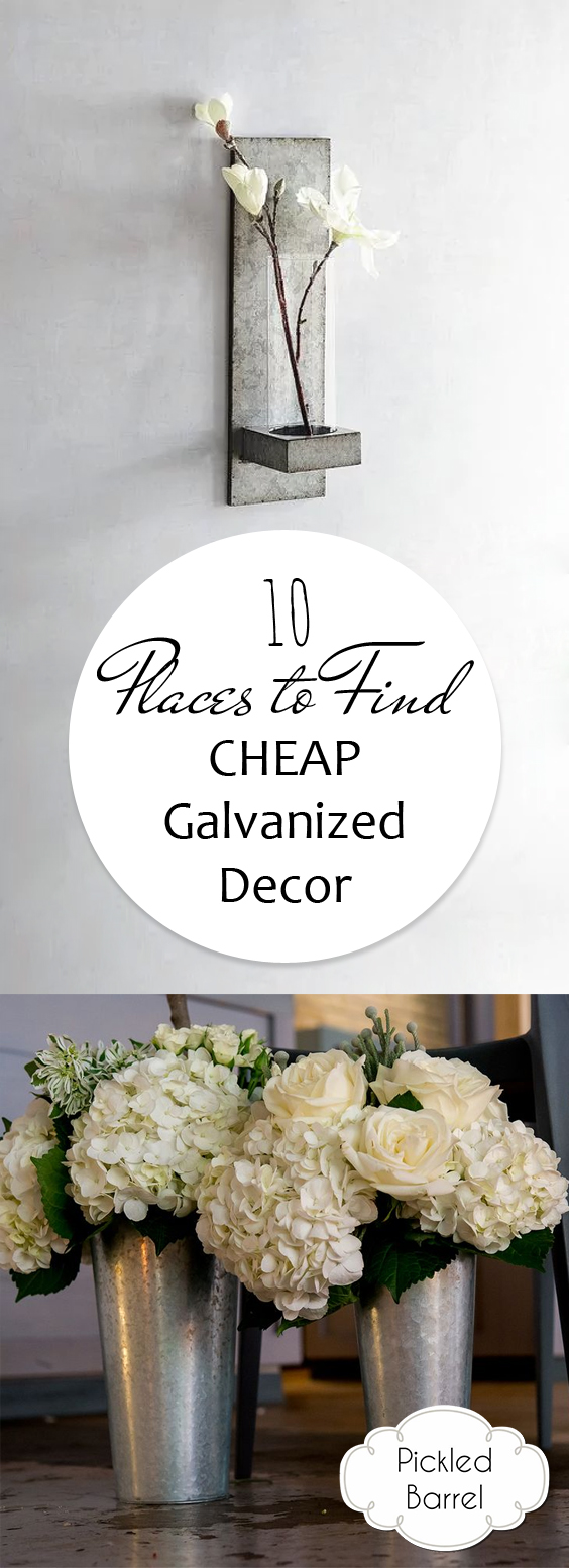 10 places to find cheap galvanized decor pickled barrel for Places to get cheap home decor