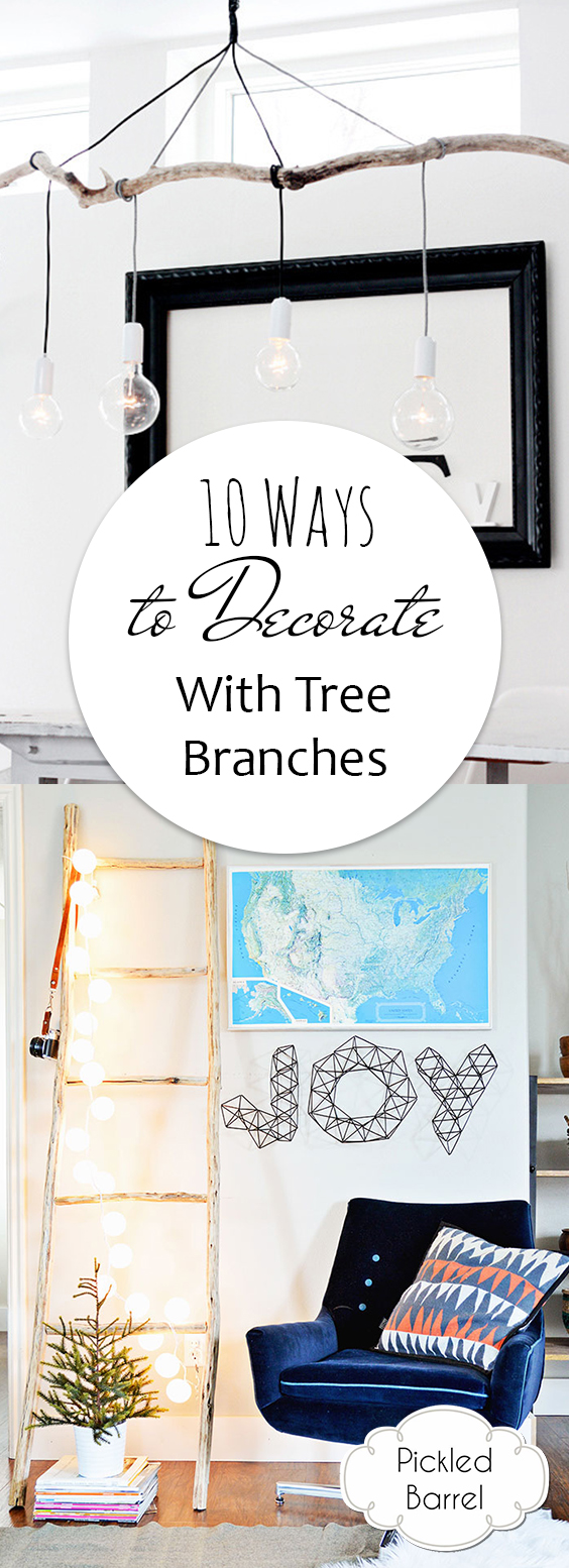 10 Ways to Decorate With Tree Branches| Tree Branch Decor, DIY Tree Branch Decor, Tree Branch Crafts, Tree Branch Crafts, Tree Branch DIY Projects, Tree Branch DIY Crafts #TreeBranchCrafts #TreeBranchDIYProjects #TreeBranchDecor #DIYTreeBranchDecor