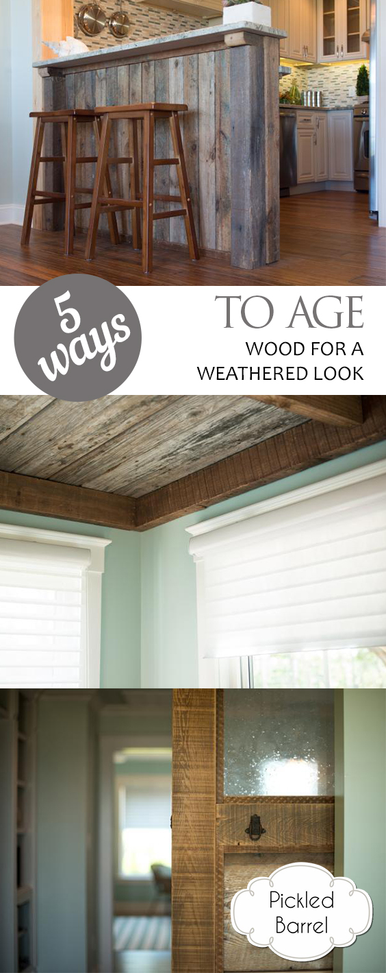 5 Ways to Age Wood for a Weathered Look| Aged Wood, Aged Wood Look, Aged Wood DIY, Weathered Wood DIY, Weathered Wood Stain, DIY Weathered Wood Stain Projects, DIY Weathered Wood Paint, DIY Projects, DIY Home #AgedWood #AgedWoodLook #AgedWoodDIY #WeatheredWoodDIY