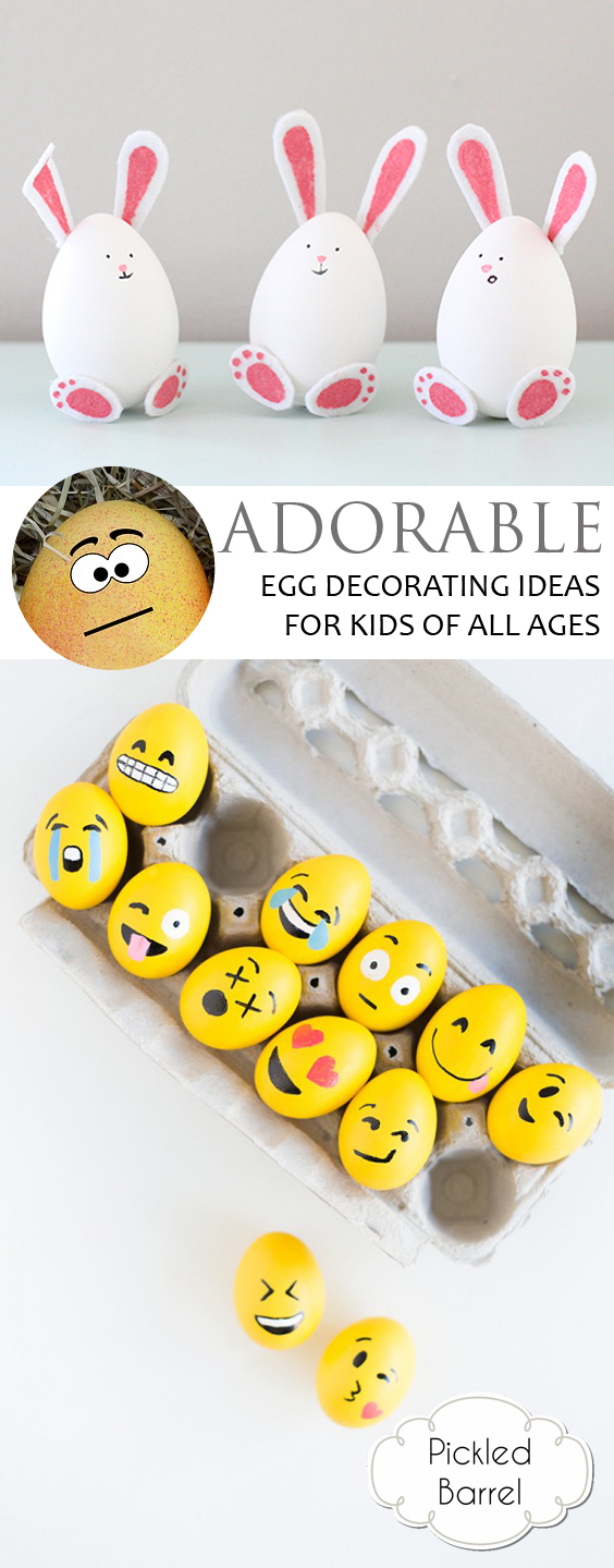 Adorable Egg Decorating Ideas for Kids of All Ages| Easter Egg, Easter Egg Decorating, Easter Egg DIY, DIY Easter Egg, Easy Easter Egg, Easter Egg Projects, Easter Fun, Kid Crafts #Easter #EasterEggs #DIYCrafts