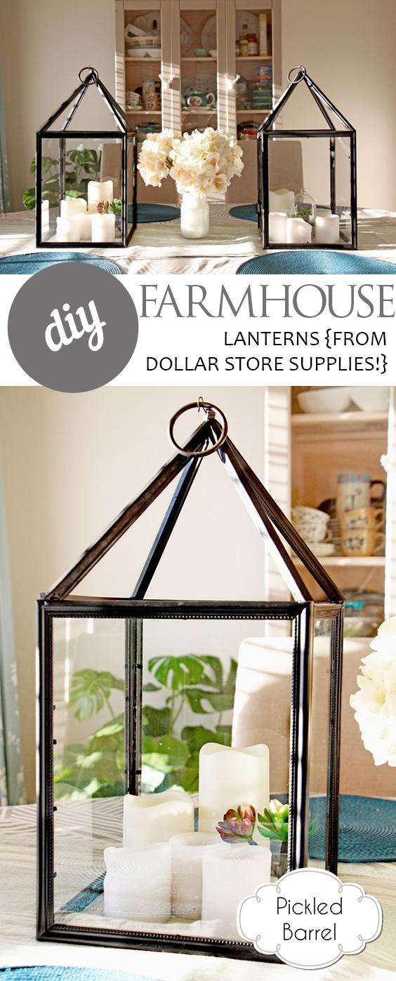 DIY Farmhouse Lanterns {from Dollar Store Supplies ...