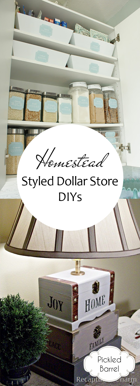 """Homestead"" Styled Dollar Store DIYs| Dollar Store DIYs, DIY Dollar Store, Dollar Store Decor, DIY Home, Homestead Decor, Dollar Store Decor, Dollar Store Home Decor #DollarStore #DollarStoreDecor #HomesteadHome"