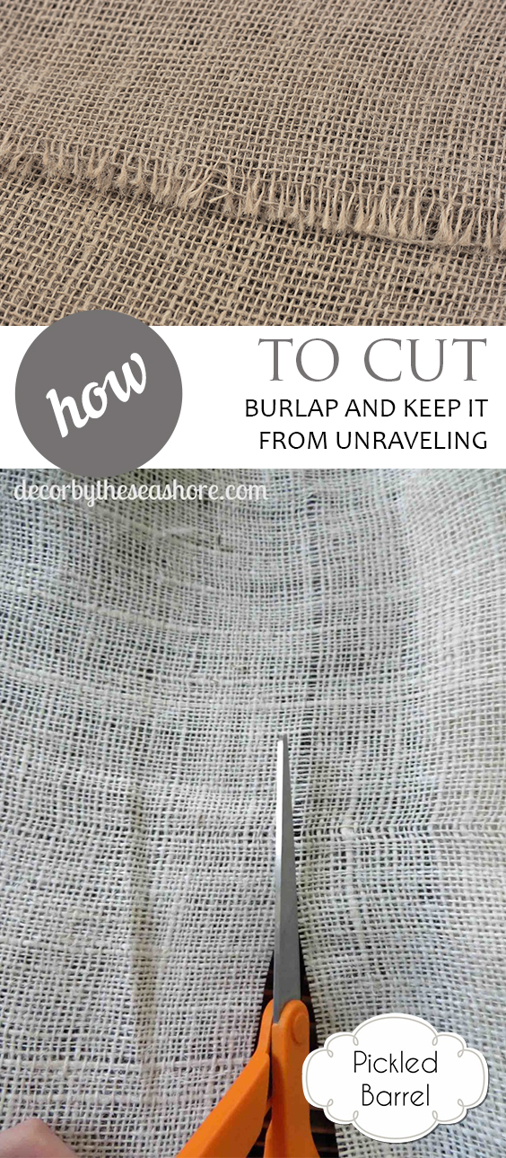 How to Cut Burlap and Keep it from Unraveling| Burlap, Cutting Burlap, How to Cut Burlap, Cutting Burlap, How to Cut Burlap, Crafts, Craft Projects, Popular Pin #Crafts #CuttingBurlap #BurlapCrafts