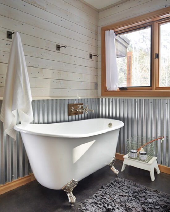 How to Incorporate Corrugated Metal in Your Home| Corrugated Metal, Corrugated Metal Backsplash, DIY Home Decor, DIY Home Decor on a Budget, Rustic Home Decor, Rustic Decor, Home Decor, Home Decor Ideas #CorrugatedMetal #RusticHomeDecor #RusticDecor #HomeDecor