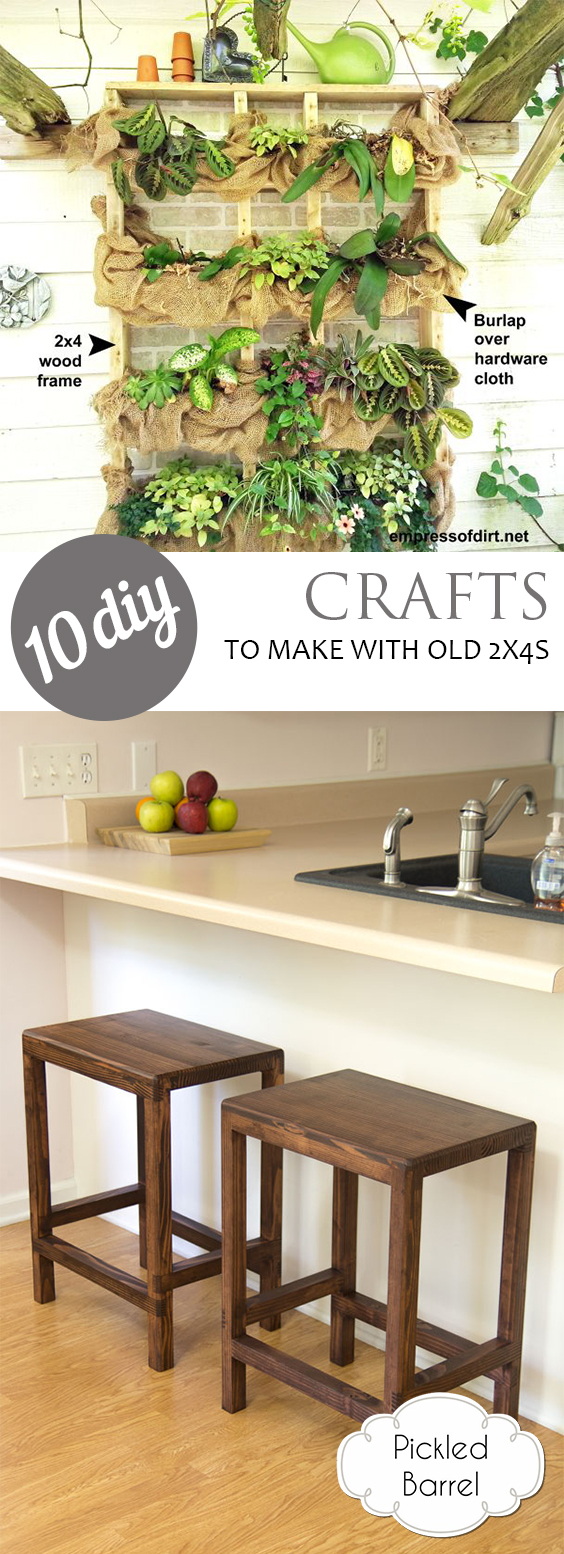10 DIY Crafts to Make With Old 2x4s| DIY Ideas, DIY Home Decor, DIY Crafts, DIY Crafts Ideas, Craft Ideas, Wood Crafts, Wood Crafts DIY, Wood Crafts Ideas
