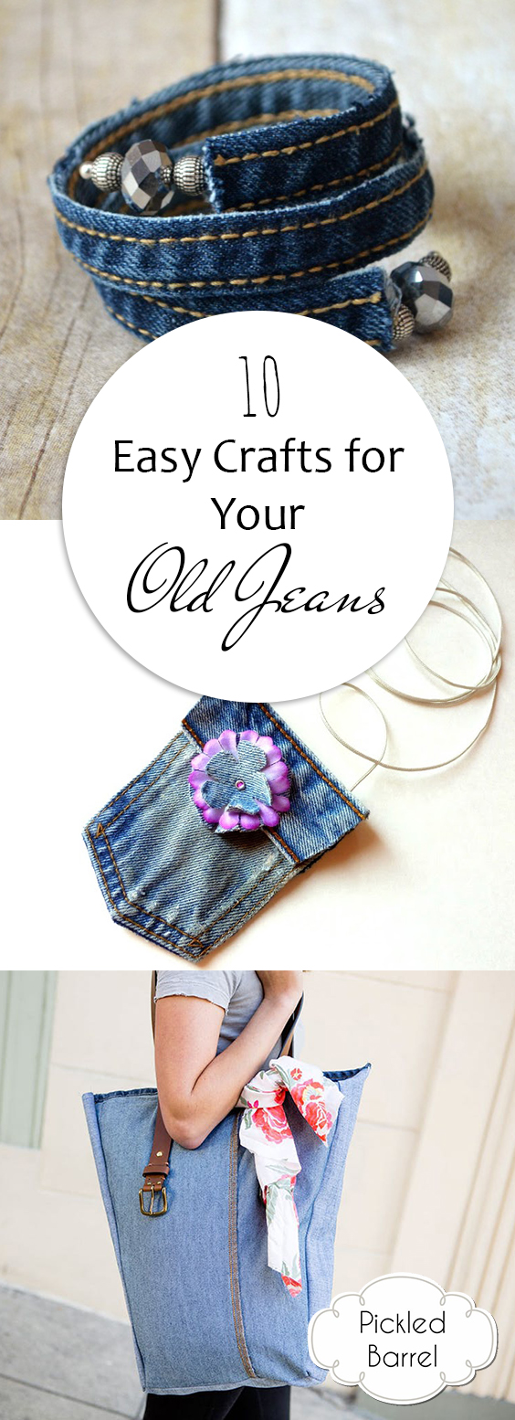 10 Easy Crafts for Your Old Jeans| DIY Crafts, Easy Crafts, Easy Crafts for Teens to Make, Old Jeans Projects, Old Jeans Repurpose, Old Jeans DIY, Old Jeans Ideas