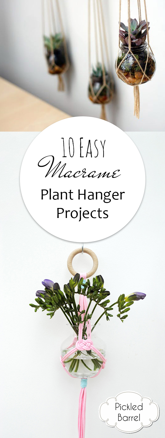 10 Easy Macrame Plant Hanger Projects| DIY Projects, Macrame, Macrame DIY, Macrame DIY Projects, Macrame Plant Hanger, Macrame Knots, DIY Home Decor, Home Decor Ideas, Popular Pin