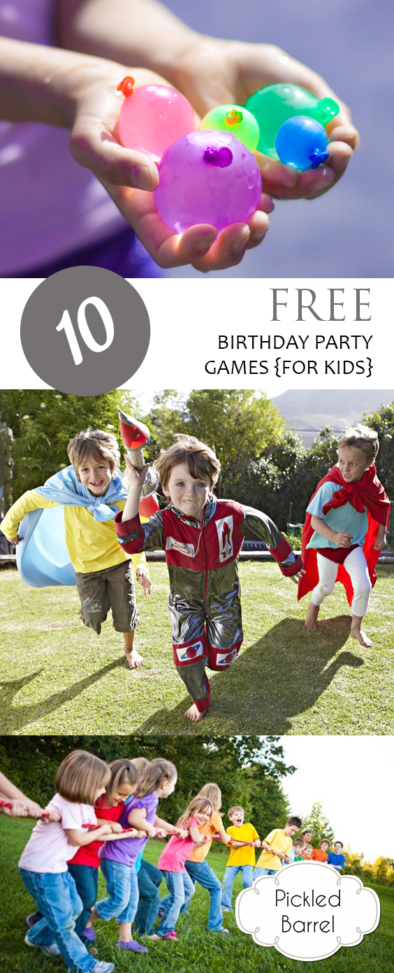 10 FREE Birthday Party Games {for Kids}|  DIY Ideas, Party Games, Birthday Party Games, Birthday Party Ideas, Party Games for Kids, Party Games Group, Party Games for Teens, DIY Games