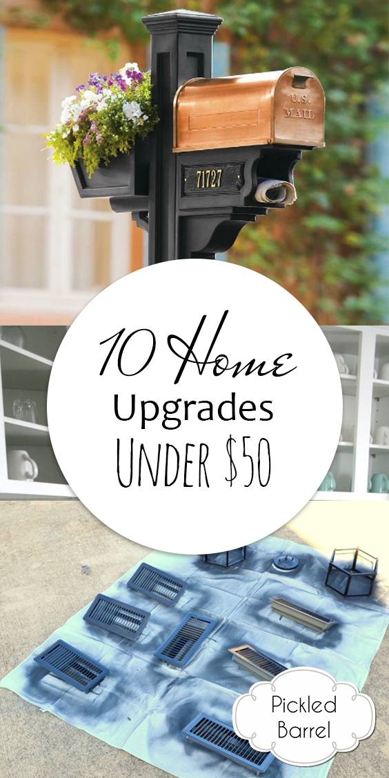 10 Home Upgrades Under $50| Home Upgrades, Home Upgrades DIY, DIY Home Upgrades, Home Upgrades on a Budget