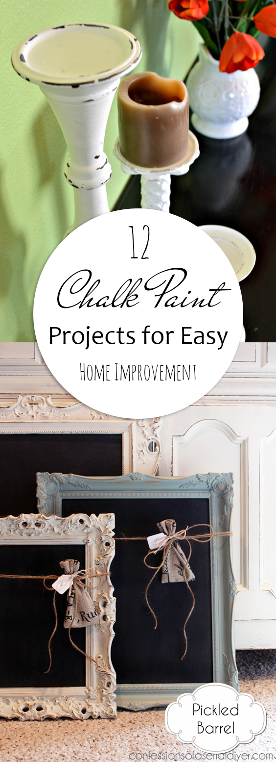 12 Chalk Paint Projects for Easy Home Improvement| DIY Ideas, Painted Furniture, Painted Furniture Ideas, Painted Furniture DIY, DIY Home Decor, DIY Home Improvement, DIY Home Projects, Chalk Paint Crafts