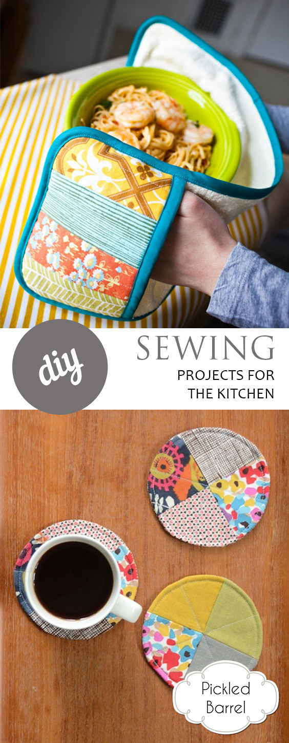 DIY Sewing Projects for the Kitchen| Sewing Projects, Sewing Projects for Beginners, Sewing for Beginners, Kitchen Sewing Projects