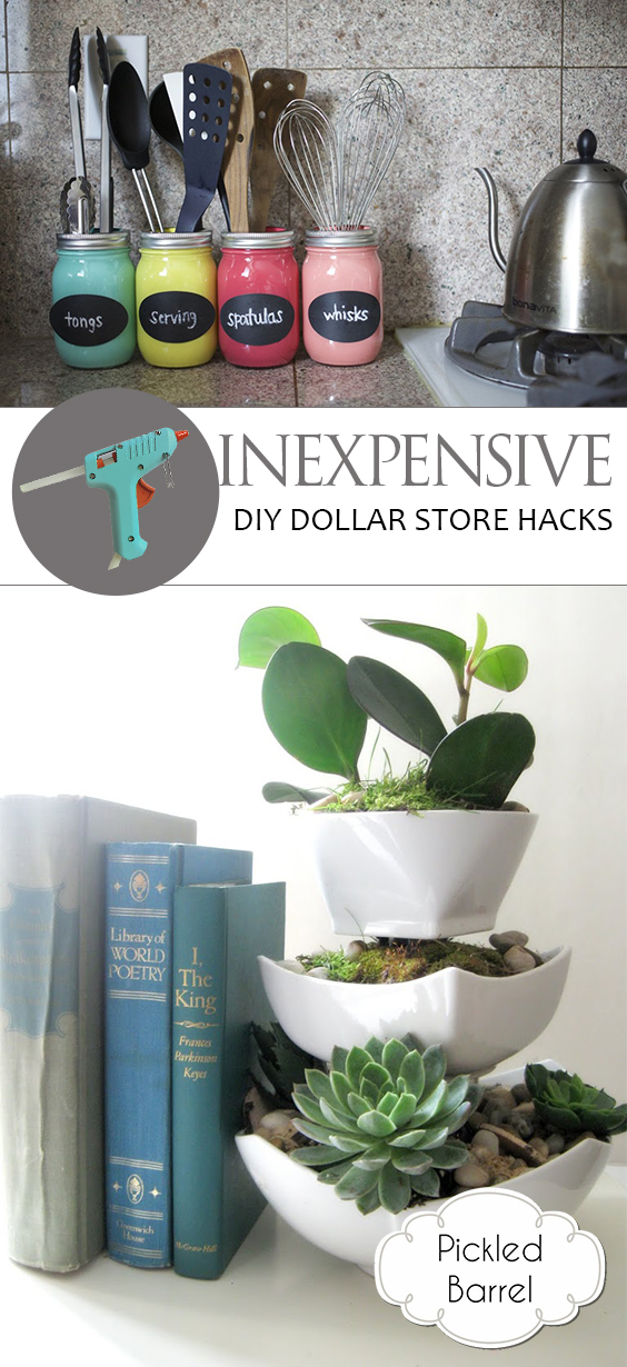 dollar store decorating hacks inexpensive diy dollar hacks pickled barrel 10802