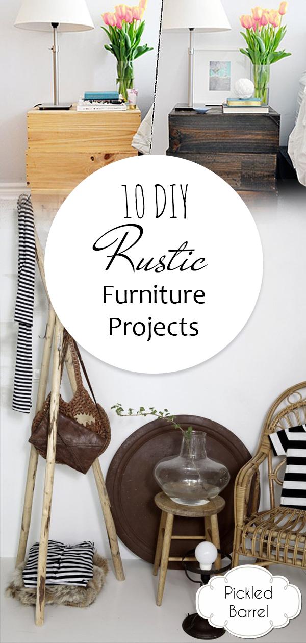 10 DIY Rustic Furniture Projects, Rustic Furniture, Furniture Makeover, Furniture Ideas, Furniture Makeover DIY, Home Decor