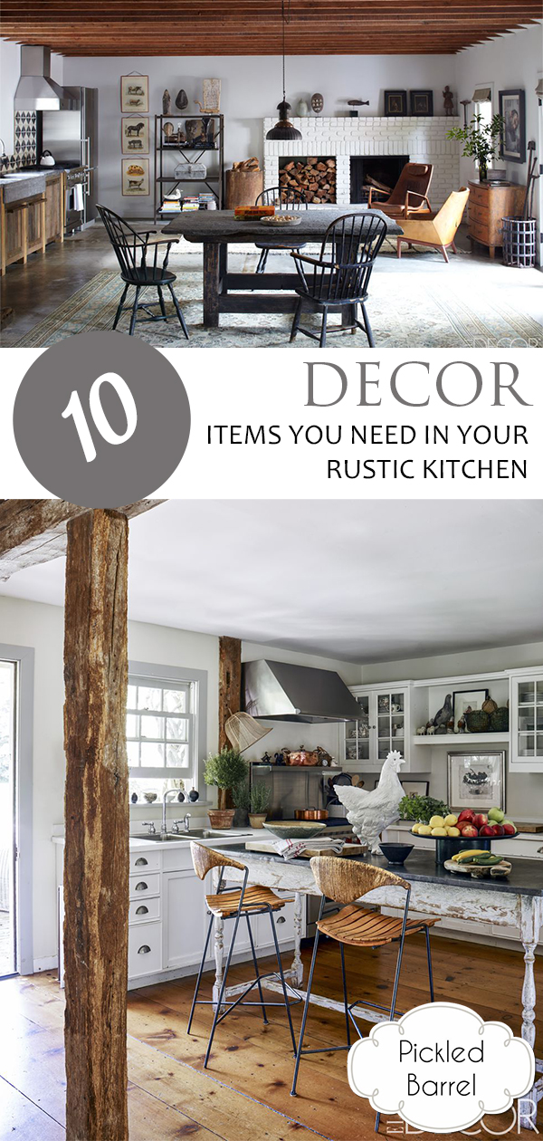 10 Decor Items You Need in Your Rustic Kitchen | Rustic Kitchen, Rustic Kitchen Ideas, Rustic Kitchen Decor, Rustic Decor, Home Decor, Farmhouse Decor, Farmhouse Decor Ideas, Farmhouse Kitchen, Farmhouse Living Room