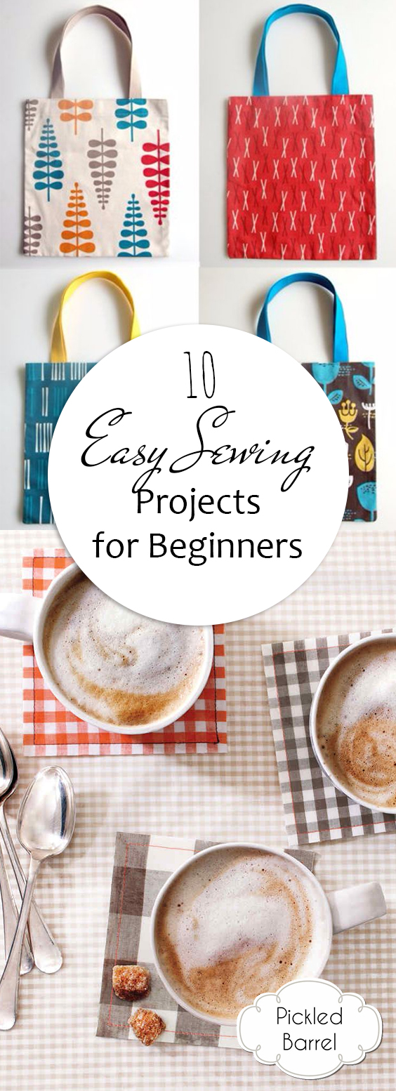 10 Easy Sewing Projects for Beginners | Sewing Projects, Sewing Projects for BEginners, Sewing Projects to Make and Sell, Sewing Projects for Kids, Sewing Projects to Sell