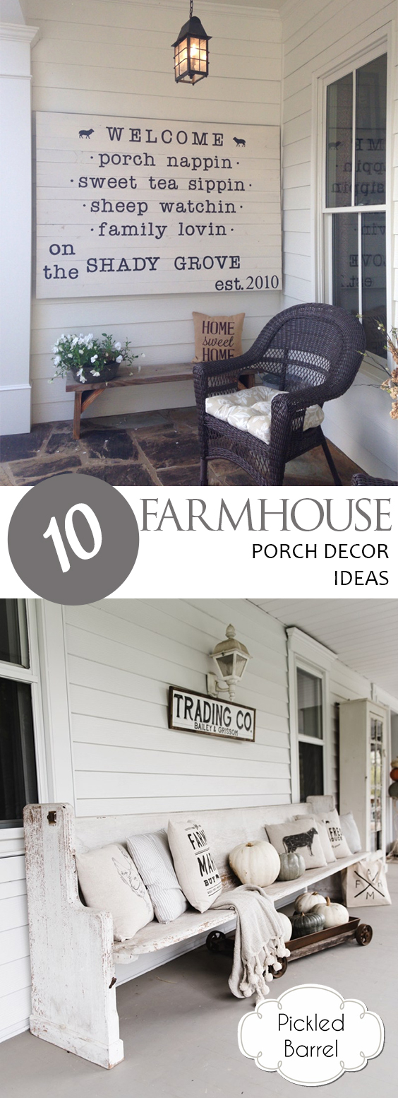 10 Farmhouse Porch Decor Ideas | Farmhouse Decor, Farmhouse Porch Decor, Farmhouse Porch Decor Ideas, Farmhouse Home Decor, Porch Decorating, Porch Ideas