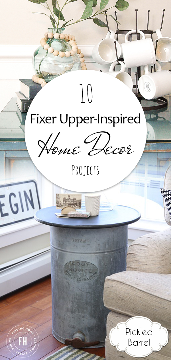 10 fixer upper inspired home decor projects pickled barrel. Black Bedroom Furniture Sets. Home Design Ideas