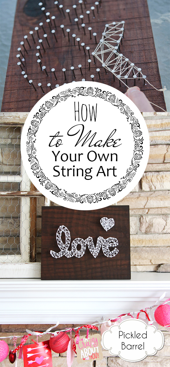 How to Make Your Own String Art| String Art, String Art Patterns, String Art Patterns DIY, DIY Projects, Craft Projects, Craft Projects DIY, Easy Craft Projects