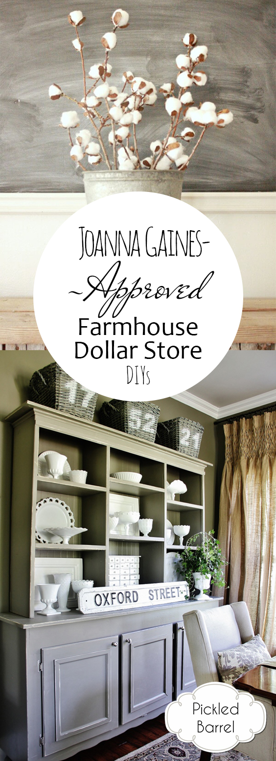 Joanna Gaines-Approved Farmhouse Dollar Store DIYs| Farmhouse Dollar Store Decor, Farmhouse Decor, Dollar Store Decor, Farmhouse Decor DIY, Farmhouse Decor on a Budget