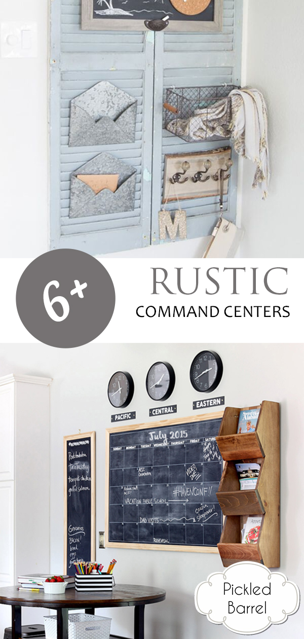6+ Rustic Command Centers, Command Center, Command Center Family, Rustic Decor, Command Center DIY