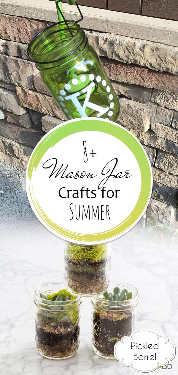 8+ Mason Jar Crafts for Summer, Mason Jar Crafts, Mason Jar Ideas, Summer Crafts, Summer Activities