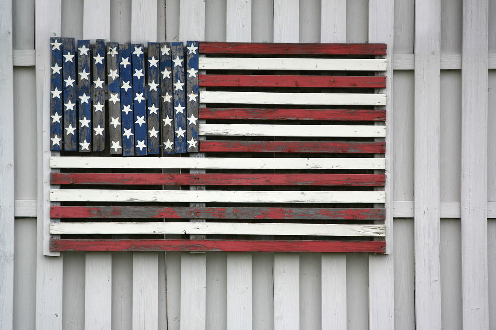 Rustic Flag- american flag hand painted and distressed