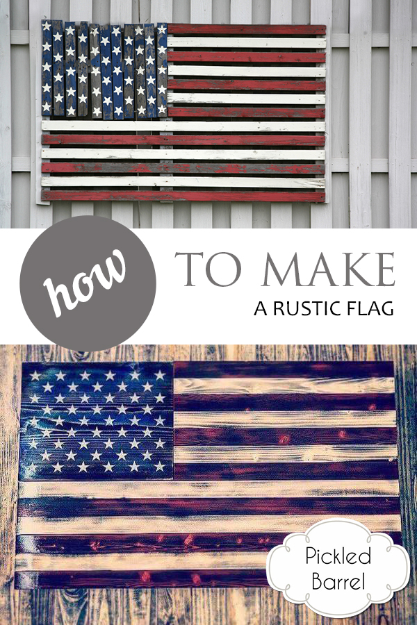 DIY Home Decor… How to Make a Rustic Flag, DIY Home Decor, Rustic Decor, Rustic Holiday, 4th of July, DIY Projects, Rustic Projects, Holiday Decor