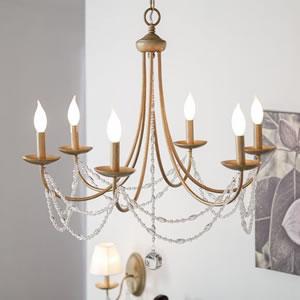 6 Light Candle Style Chandelier -DIY Light Fixtures-DIY light fixtures