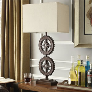 Industrial Gear Table Lamp