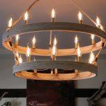 DIY Rustic Double Ringer Chandelier