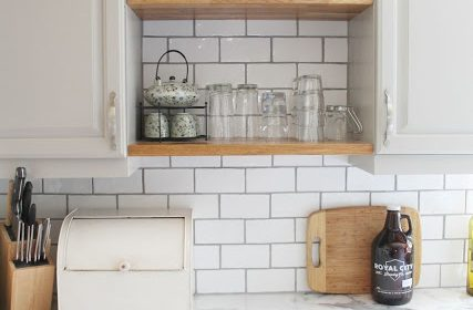 DIY Kitchen Cabinet Shelves