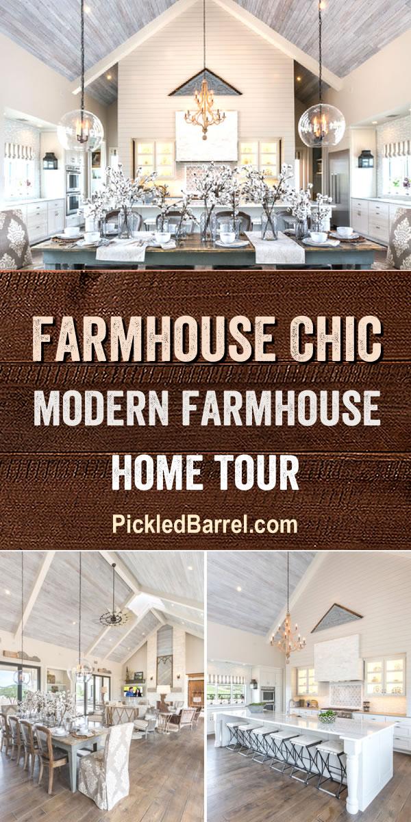 Farmhouse Chic Modern Farmhouse Home Tour - Take a Tour of The Modern Farmhouse, Featuring Fabulous Farmhouse Decor!