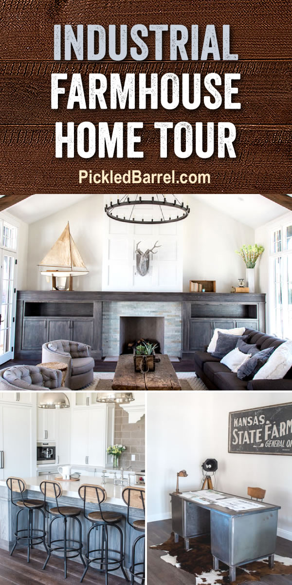 Industrial Farmhouse Home Tour - Take a Tour of This Modern Farmhouse, Featuring Rustic Industrial Farmhouse Decor