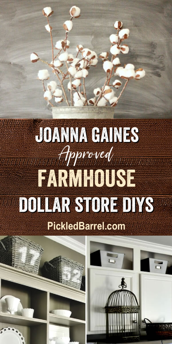 Joanna Gaines Approved Farmhouse Dollar Store DIYS - Pickled Barrel