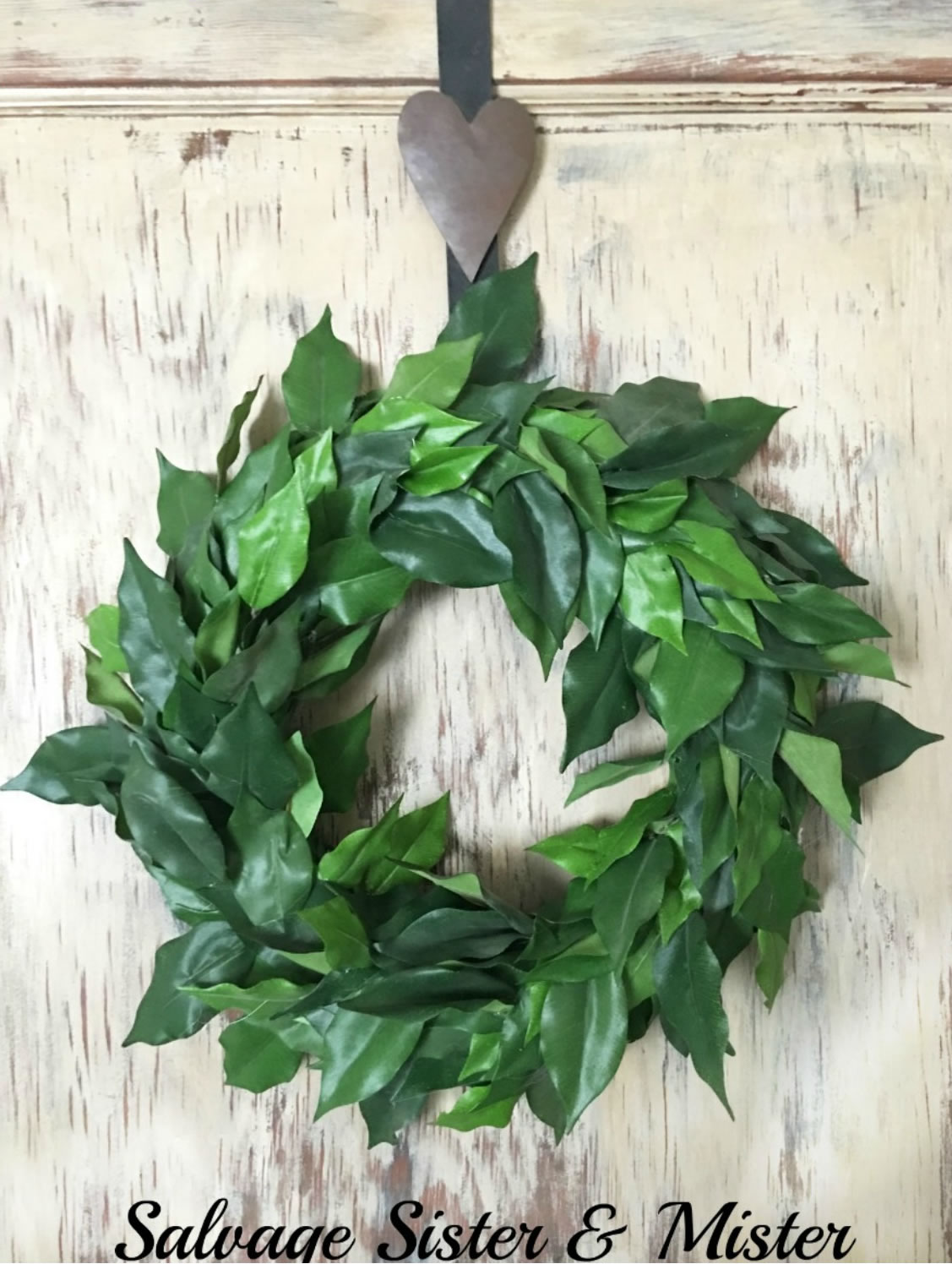 DIY Faux Magnolia Wreath - Farmhouse Dollar Store DIY Decorations Inspired by Joanna Gaines