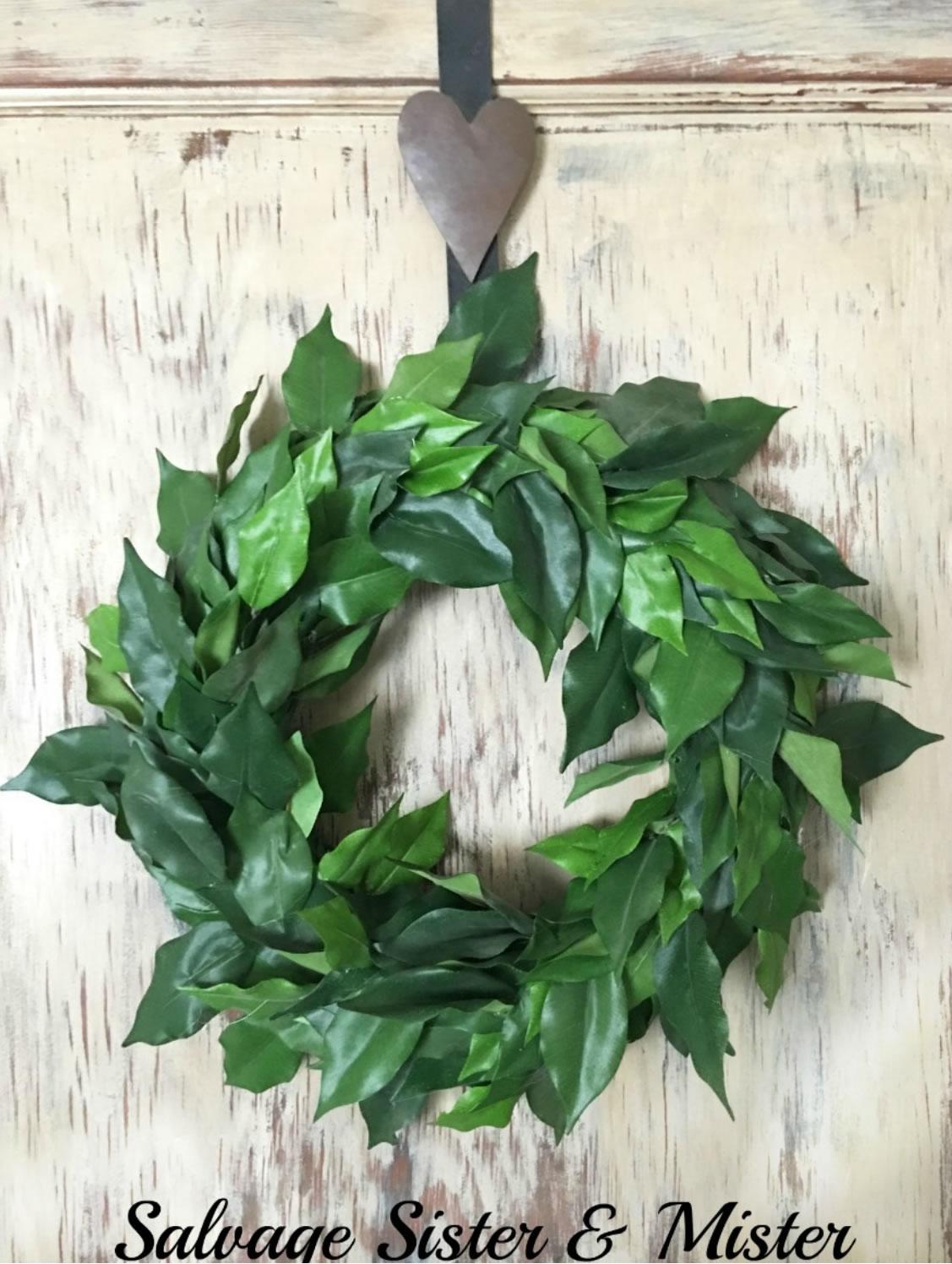 DIY Faux Magnolia Wreath - Farmhouse Dollar Store DIY Decorations Inspired by Joanna Gaines