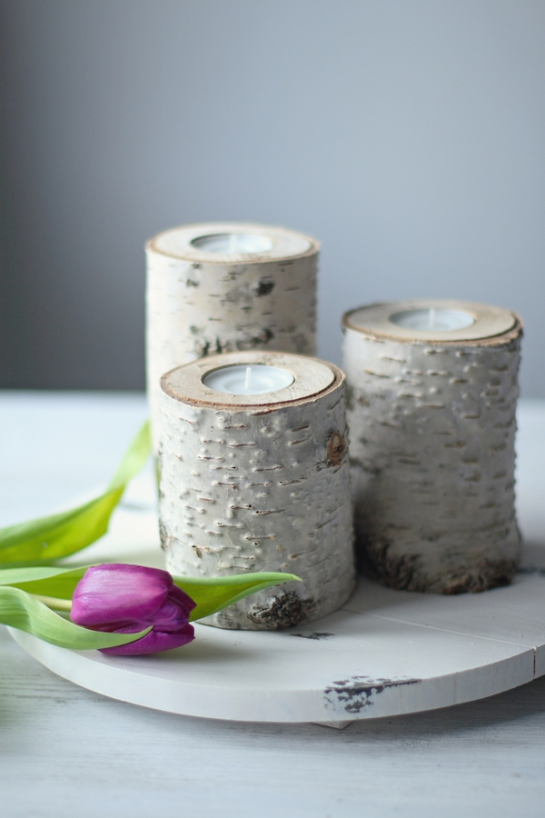 If you love Joanna Gaines and saving money, you will love these Joanna Gaines inspired farmhouse dollar store DIYs. These knock-off birch candles are so easy to make.