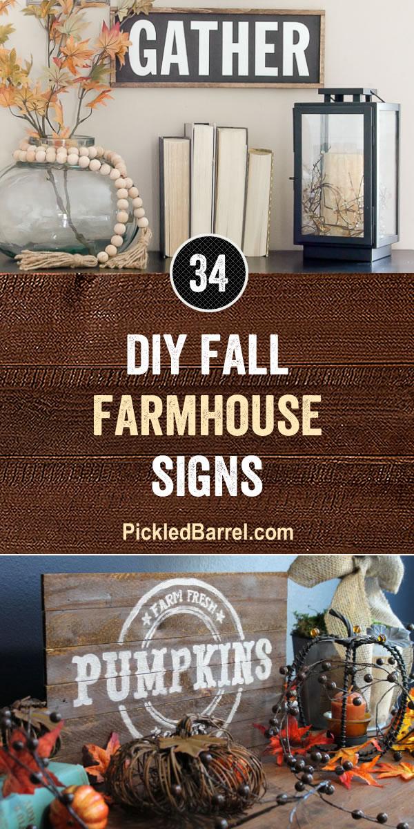 34 DIY Fall Farmhouse Signs - Pickled Barrel