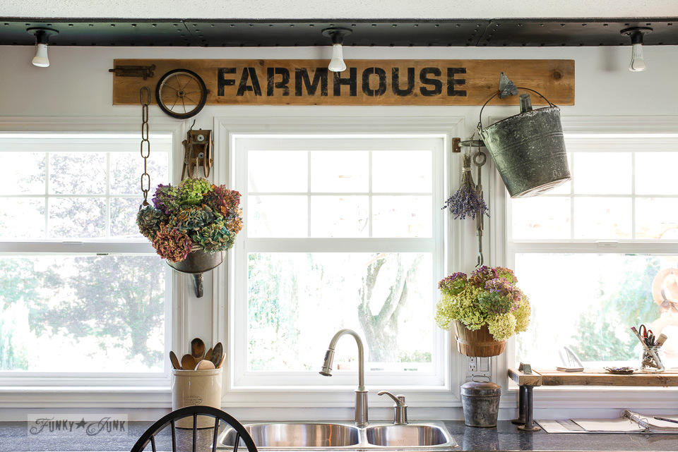 Joanna Gaines Inspired Rustic Industrial Farmhouse Kitchen Decor - Pickled Barrel