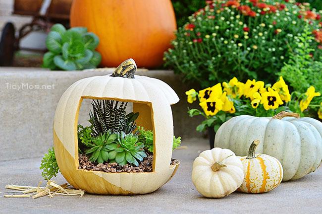 Gold Pumpkin Planter