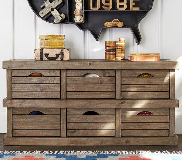 DIY Crate Dresser