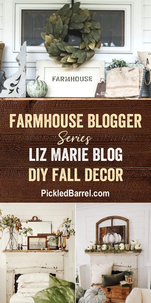 Farmhouse Blogger: Liz Marie Blog DIY Fall Decor - Our Favorite DIY Fall Decor From Liz Marie Blog!