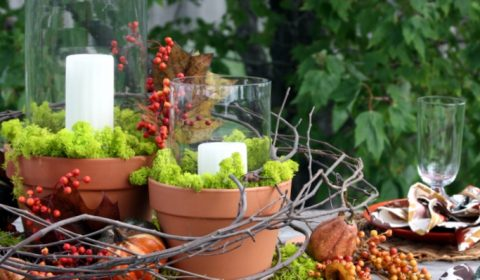 Nature Inspired DIY Outdoor Fall Tablescapes