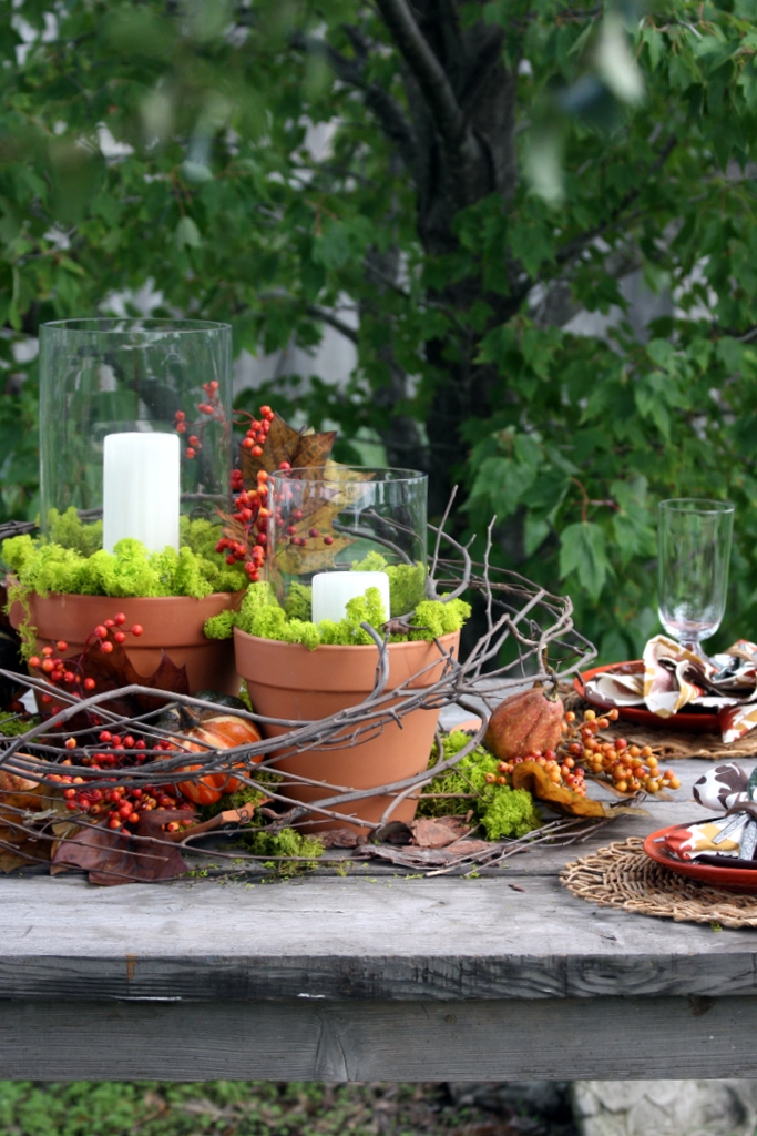 Tremendous Nature Inspired Diy Outdoor Fall Tablescapes Pickled Barrel Beutiful Home Inspiration Ommitmahrainfo